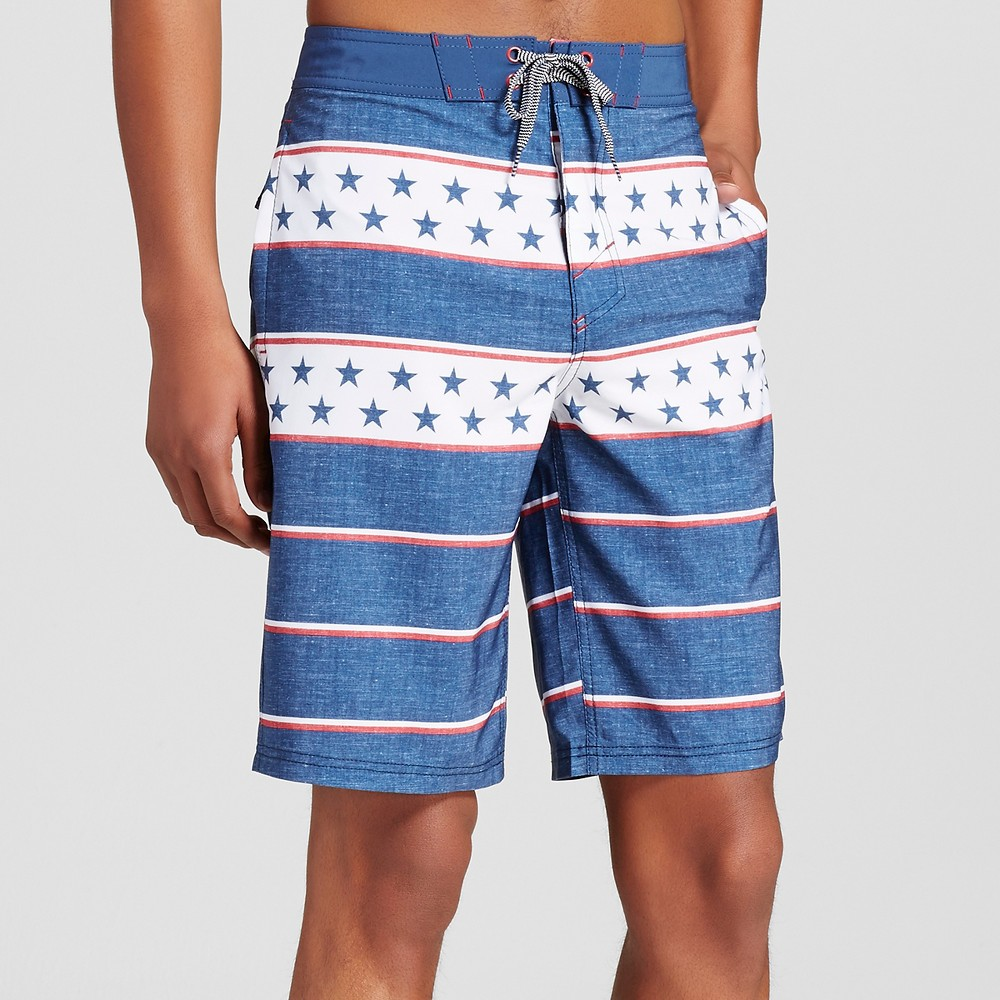 Mens Board Shorts - Mossimo Supply Co. Blue 28