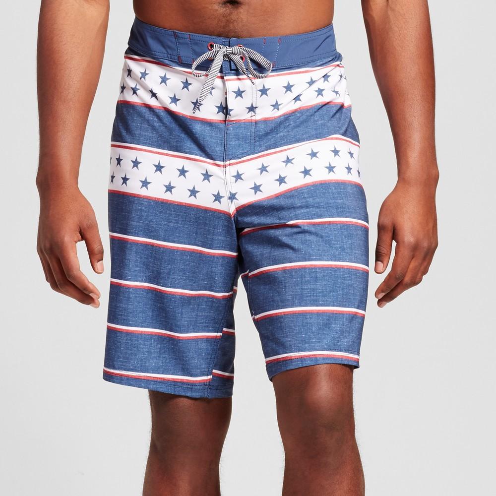 Mens Big & Tall Board Shorts - Mossimo Supply Co. Blue 46