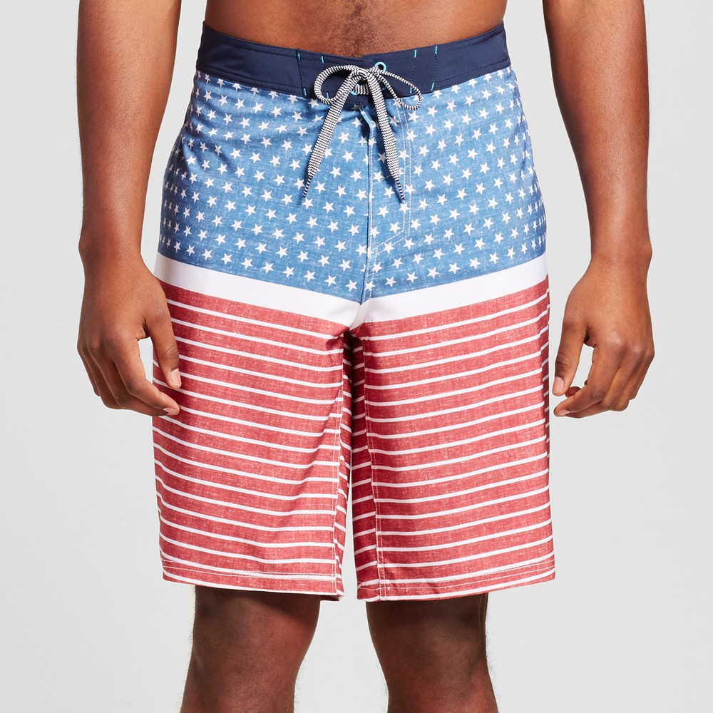 Mens Big & Tall Board Shorts - Mossimo Supply Co. Red 50