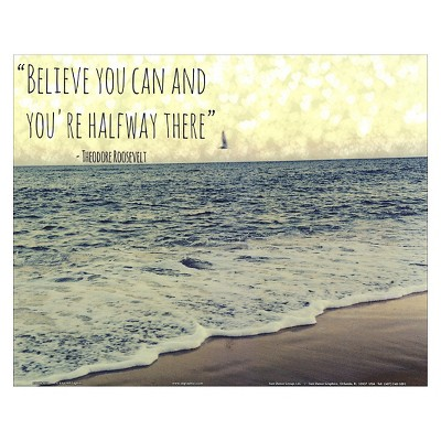 Believe you Can by Lisa Hill Saghini Unframed Wall Art Print