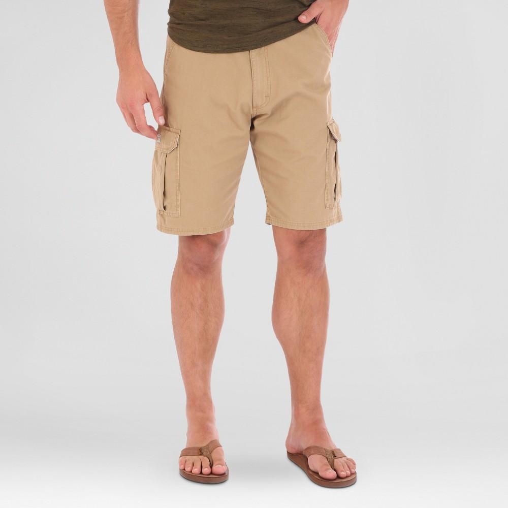 Wrangler Mens Big & Tall Ripstop Cargo Shorts - Tan 44