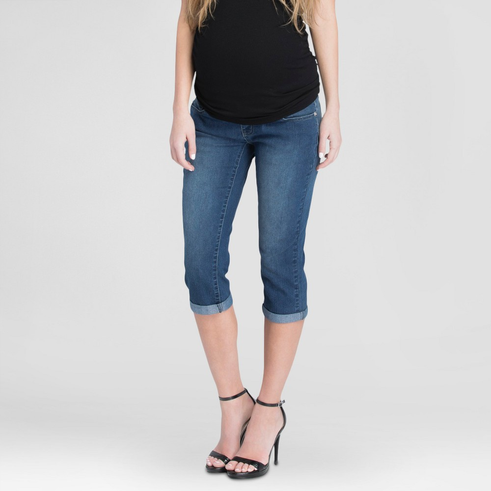 Maternity Cropped Denim Pants Blue M - Expected by Lilac, Womens