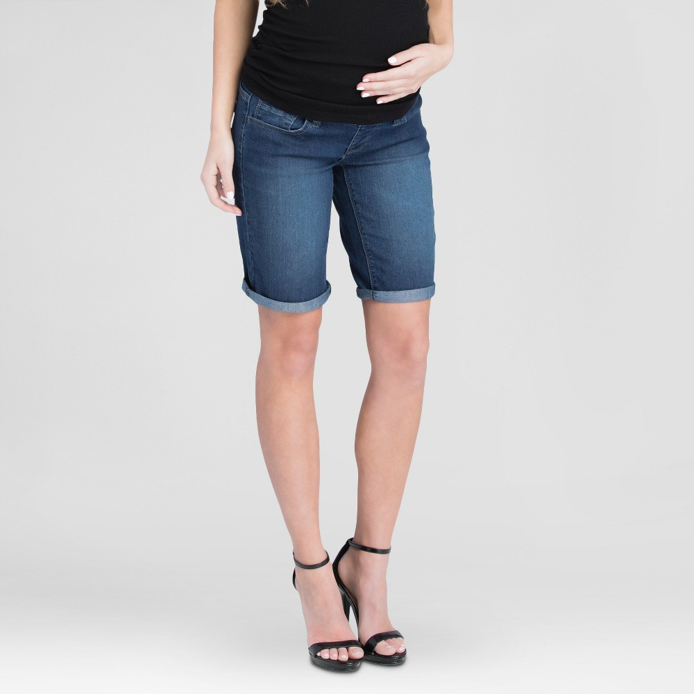 Maternity Bermuda Shorts Blue L - Expected by Lilac, Womens