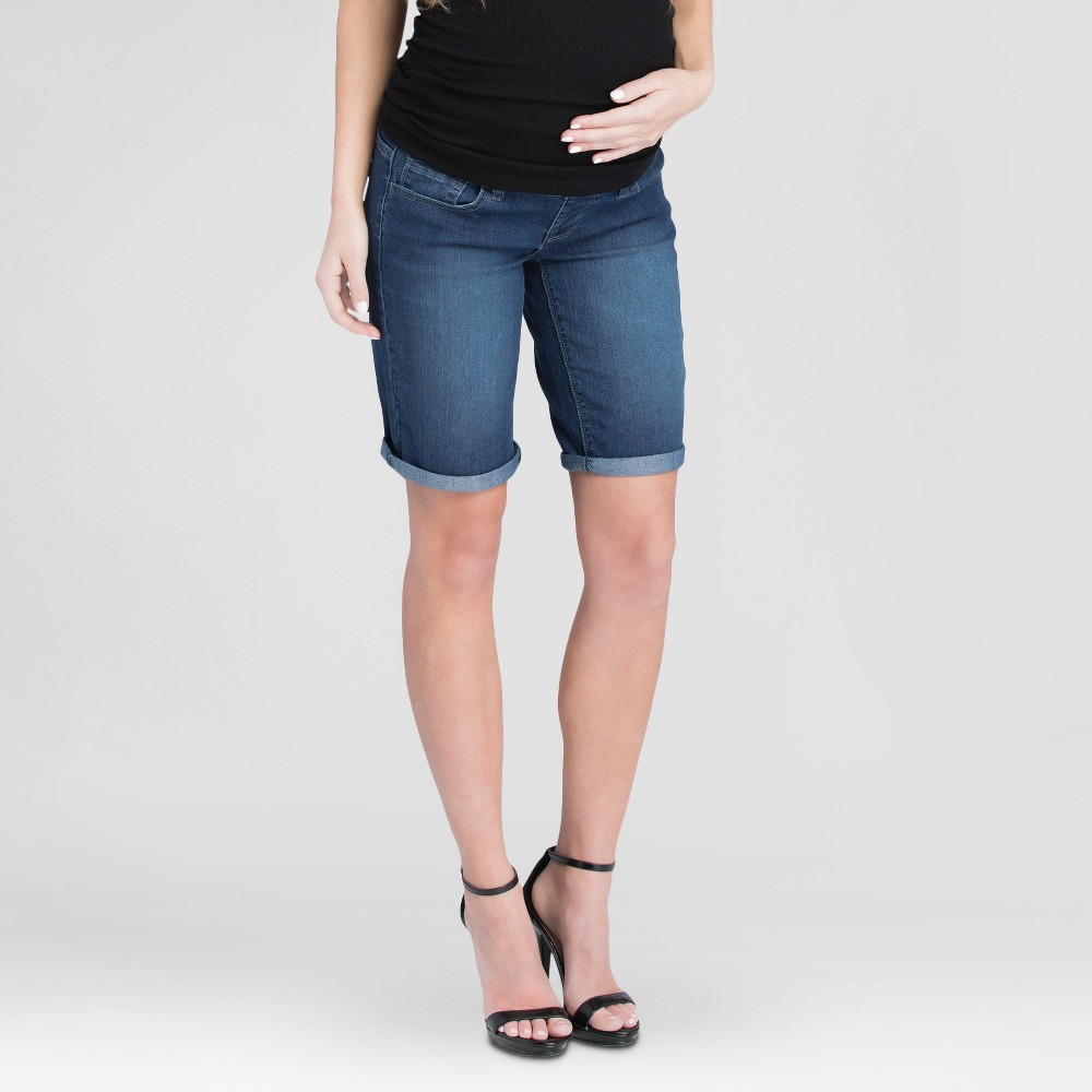 Maternity Bermuda Shorts Blue S - Expected by Lilac, Womens