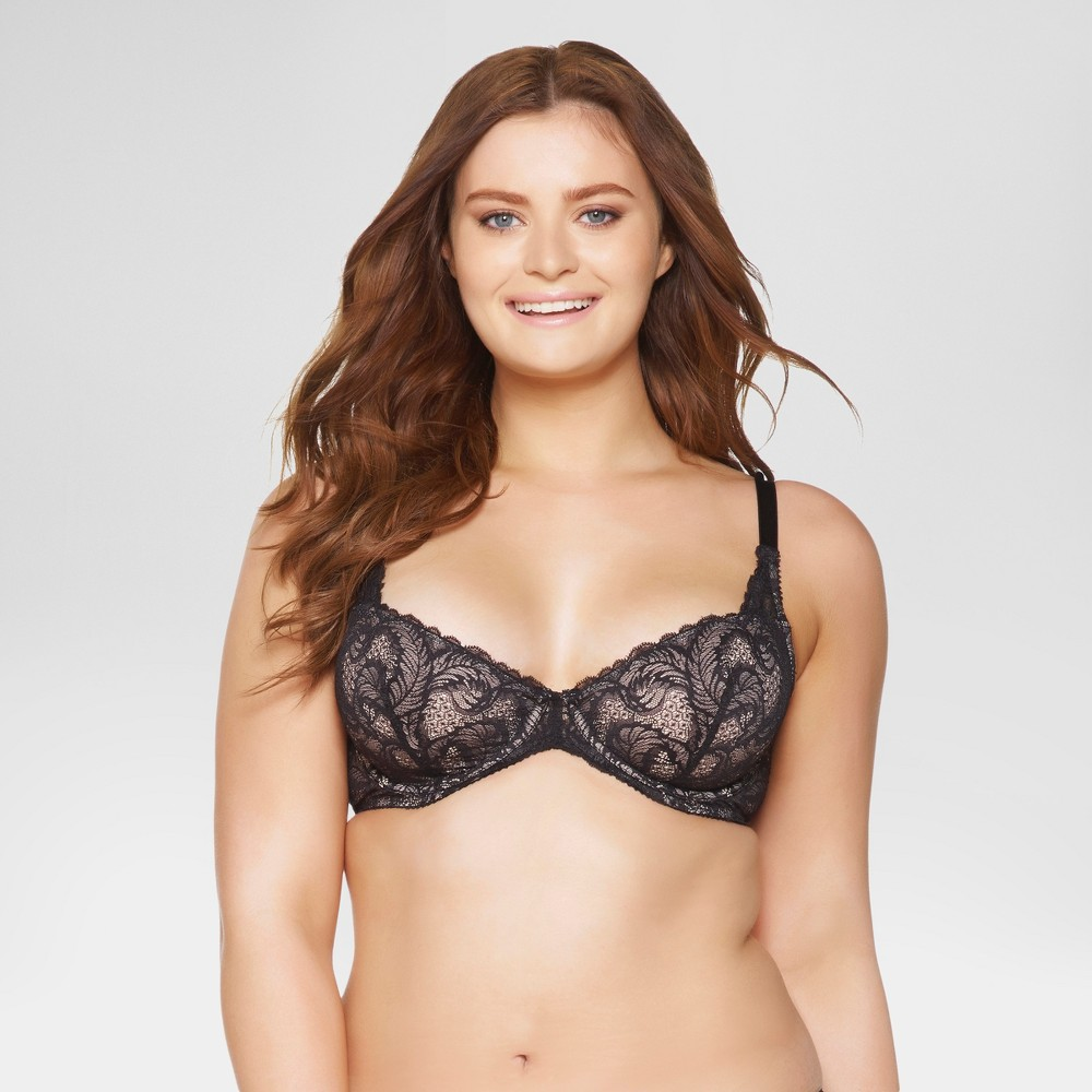 Paramour Women's Lou Lou Lace Unlined Bra - Black 36H