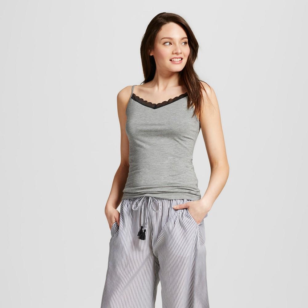 Womens Sleep Camisoles - Medium Heather Gray XS