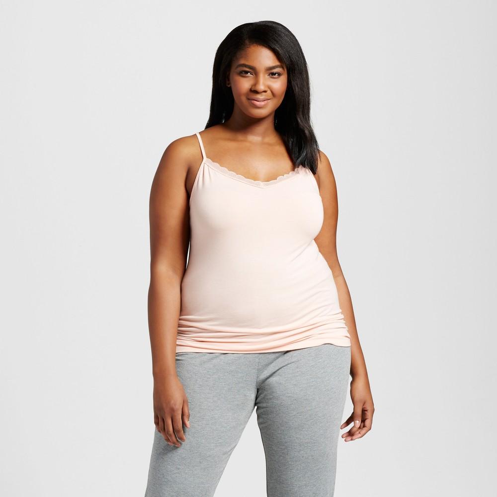 Womens Plus Size Sleep Camisoles - Peach Divine 3X