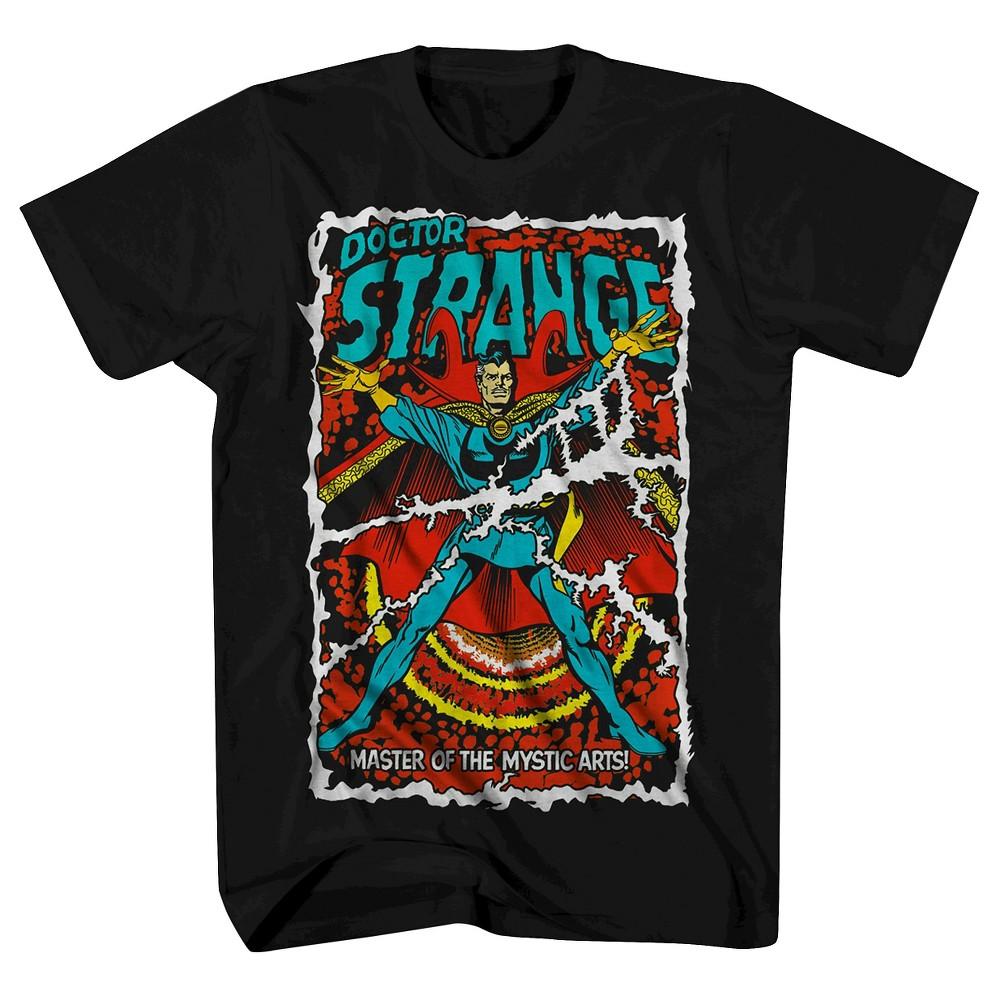 Mens Doctor Strange Comic Cover T-Shirt - Black 4XLT, Size: 4XL Tall