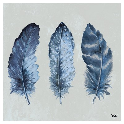 Indigo Feathers I by Patricia Pinto Unframed Wall Art Print
