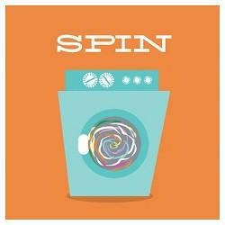 Laundry Spin by Tiffany Everett Unframed Wall Art Print