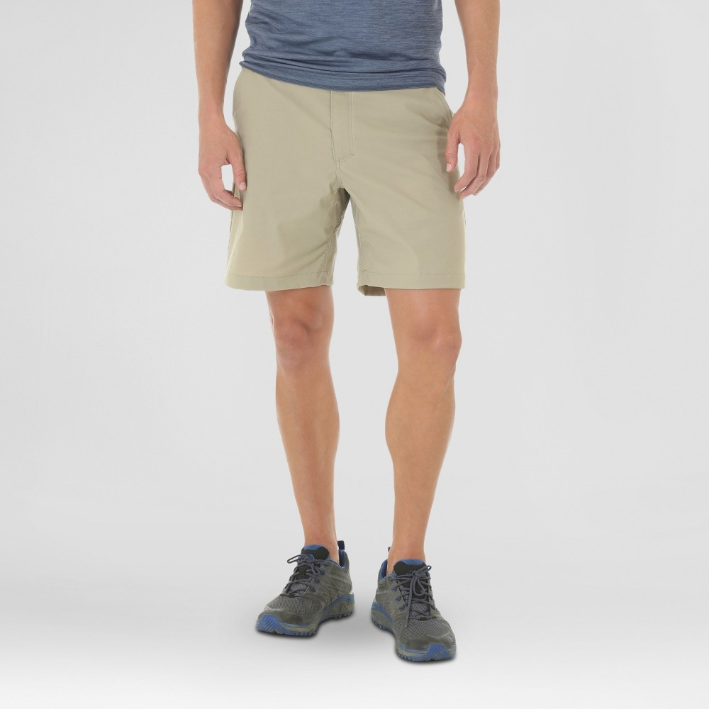 Wrangler Mens Outdoor Series Flat Front Performance Shorts - Khaki (Green) 32