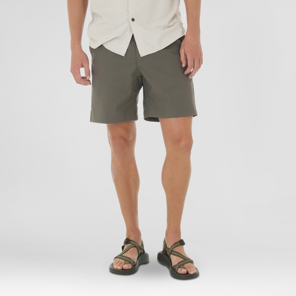 Wrangler Mens Outdoor Series Flat Front Performance Shorts - Green 34