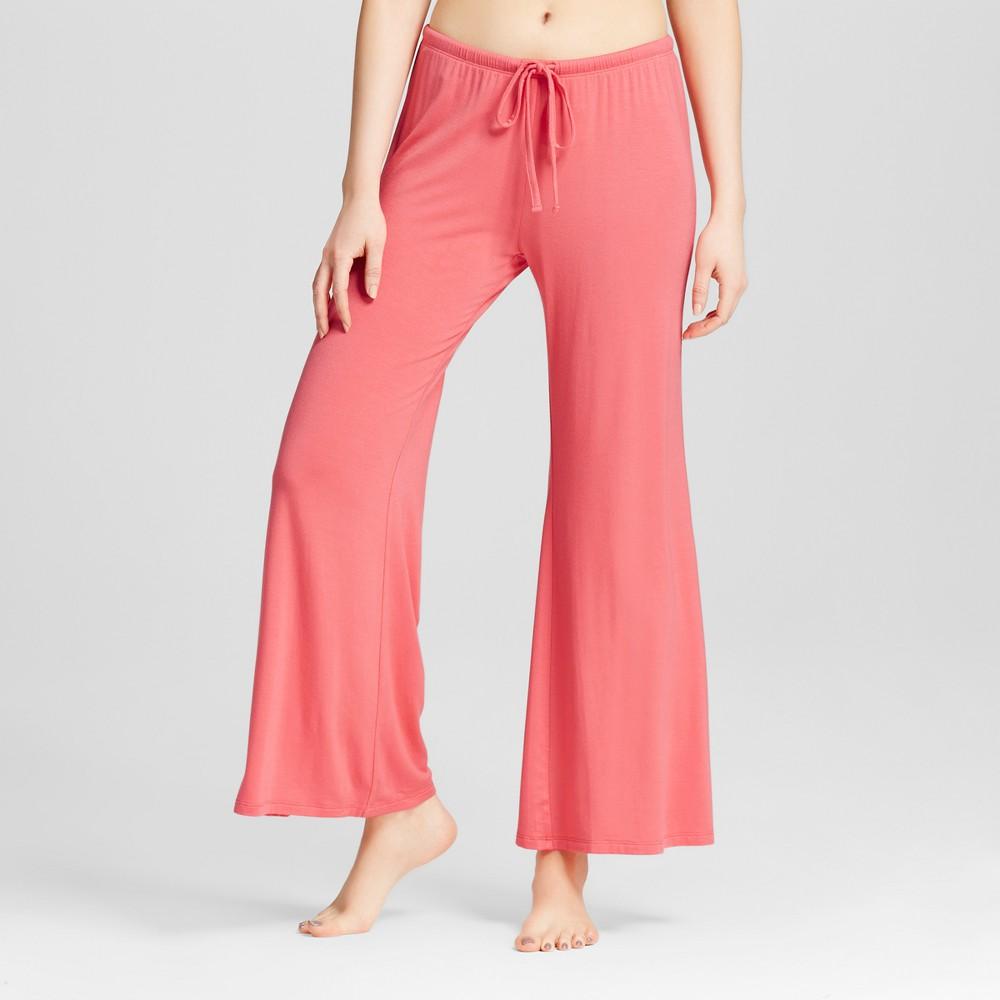 Womens Wide Leg Pajama Pants - Total Comfort - Fifties Pink L - Shorts, Size: L Short
