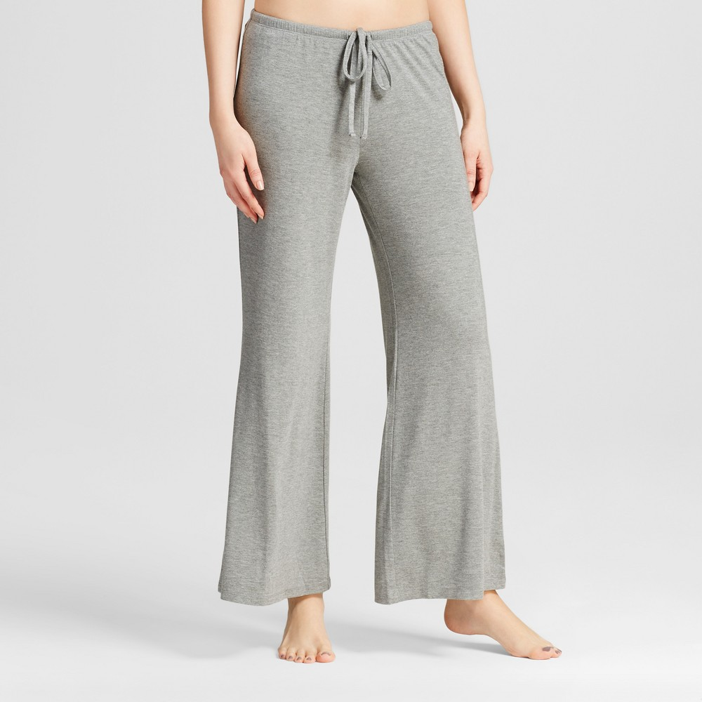 Womens Wide Leg Pajama Pants - Total Comfort - Medium Heather Gray L - Shorts, Size: L Short