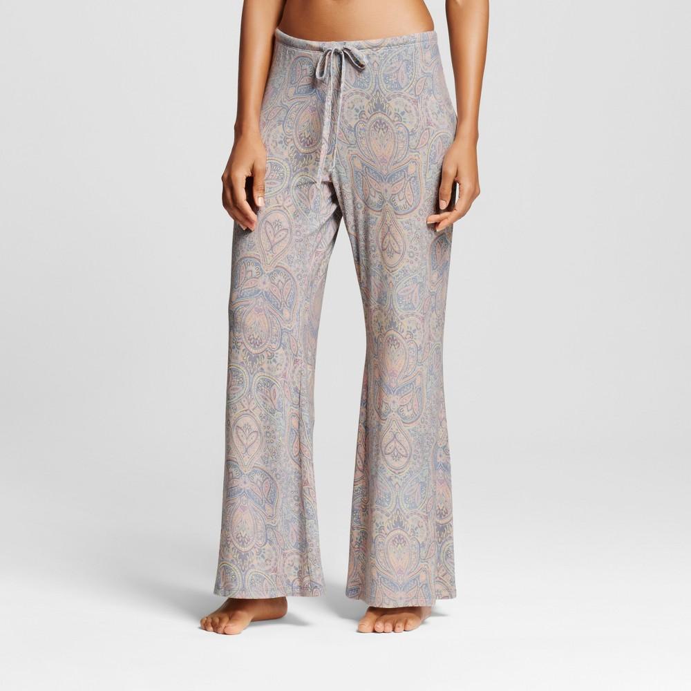 Womens Wide Leg Pajama Pants - Total Comfort Misty Blue XL - Shorts, Size: XL Short