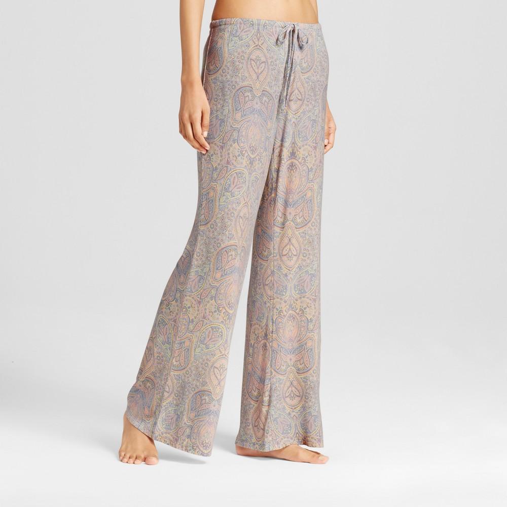 Womens Wide Leg Pajama Pants - Total Comfort Misty Blue M