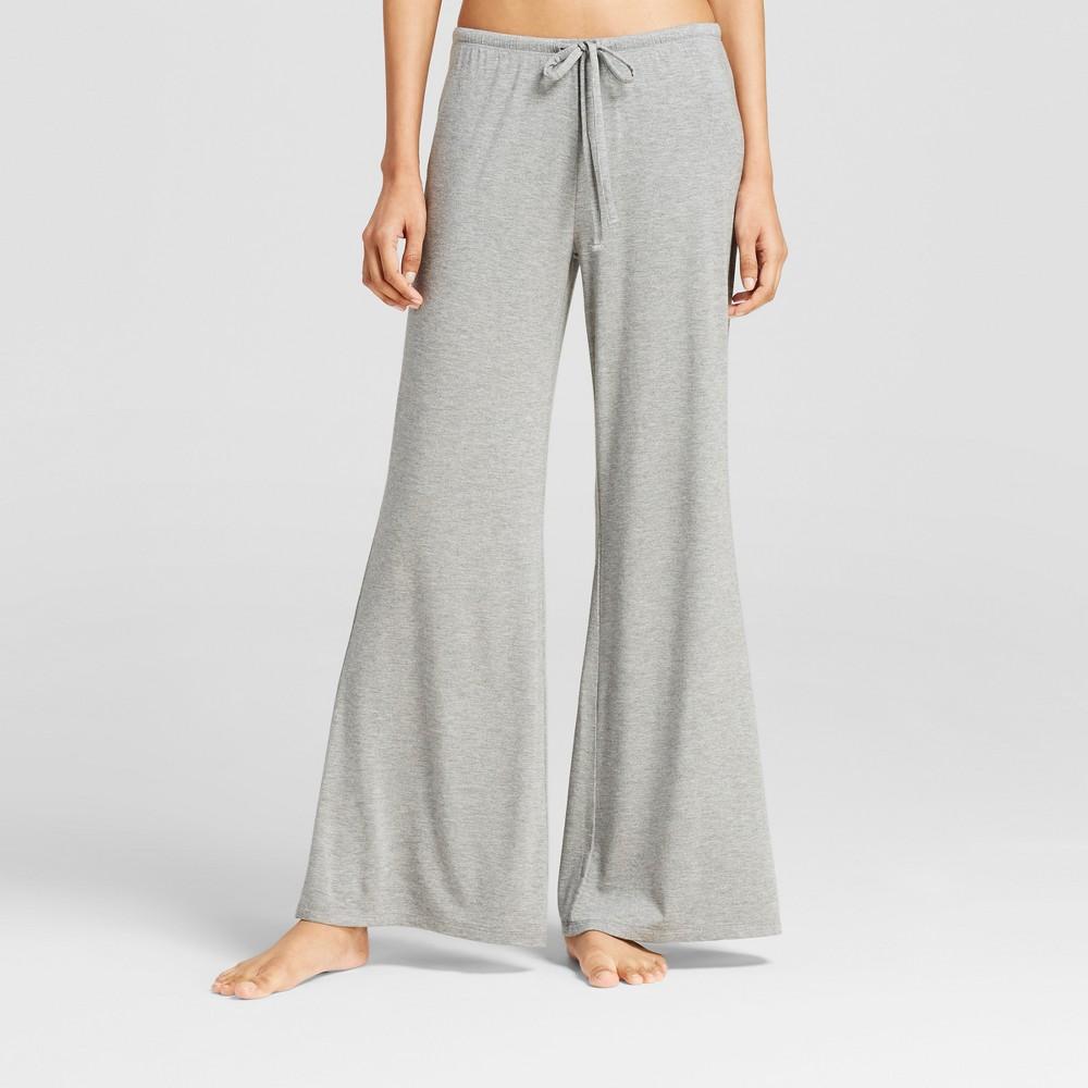 Womens Wide Leg Pajama Pants - Total Comfort Medium Heather Gray L