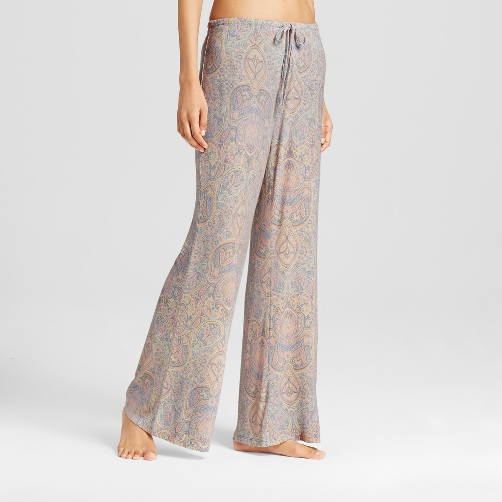 Women's Wide Leg Pajama Pants - Total Comfort Misty Blue L