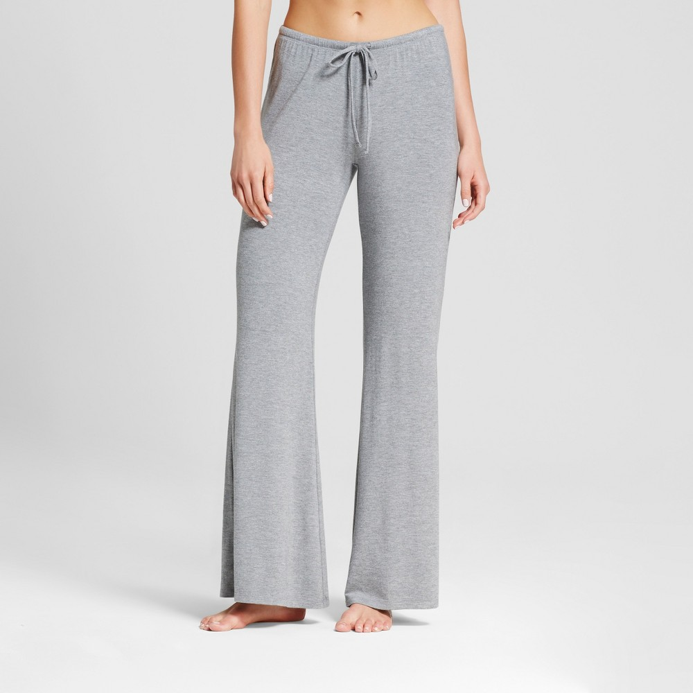 Womens Wide Leg Pajama Pants - Total Comfort Medium Heather Gray S - Tall, Size: S Long
