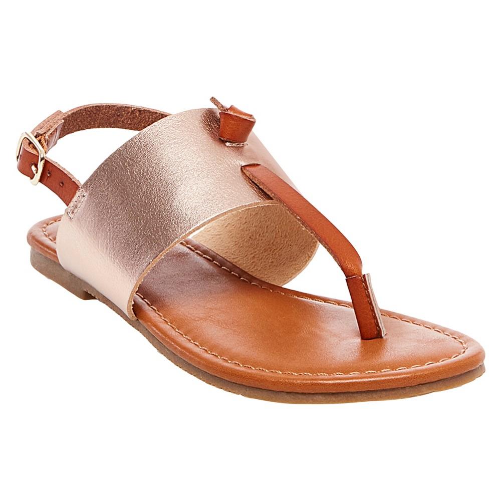 Girls Helen Thong Sandals Cat & Jack - Rosegold 1, Pink