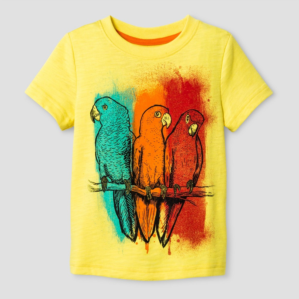 Toddler Boys Graphic T-Shirt Eureka Cat & Jack Yellow 18M, Size: 18 M