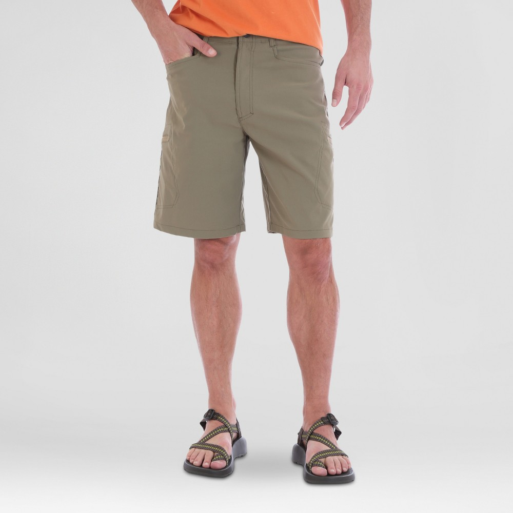 Wrangler Mens Outdoor Series Performance Shorts - Green 34