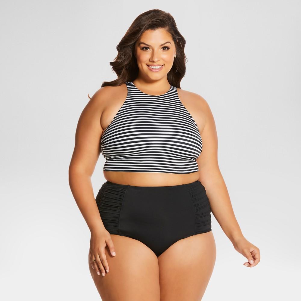Womens Plus Size Georgia High Waist Bottom Black 3X - Beach Betty