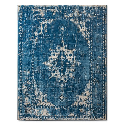 Blue Abstract Woven Area Rug - (7'X10')- Threshold™