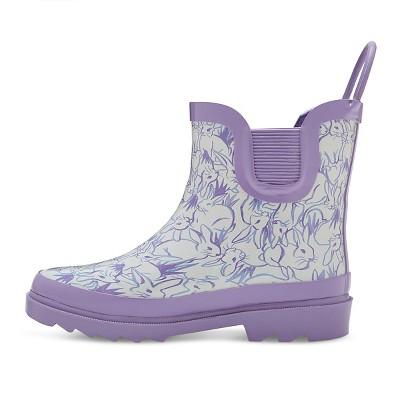 Toddler Girls' Back Loop Bunny Print Rain Boots Cat & Jack- Purple 11, Toddler Girl's