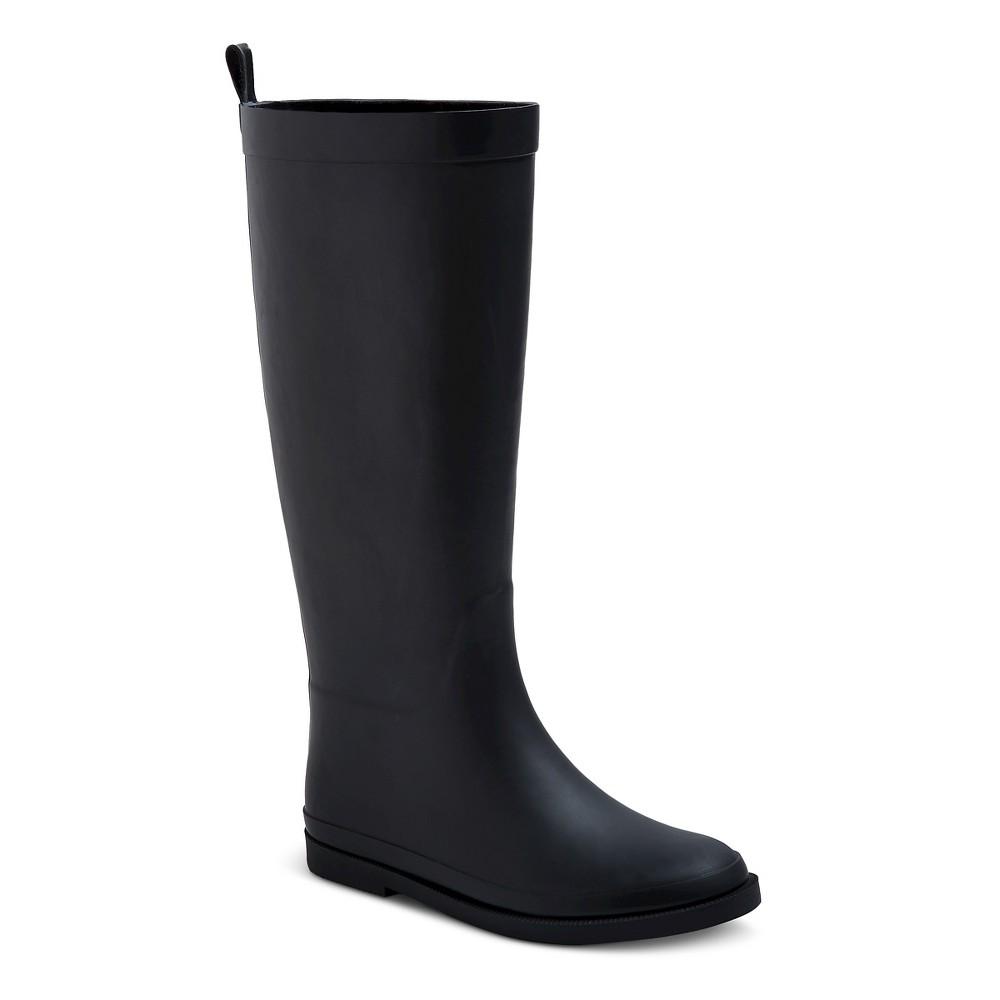 Girls Tall Matte Rain Boots 12 - Cat & Jack - Black