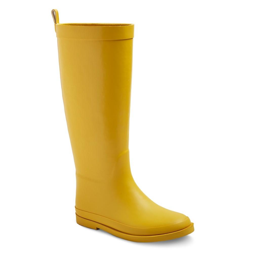 Girls Tall Matte Rain Boots 4 - Cat & Jack - Yellow