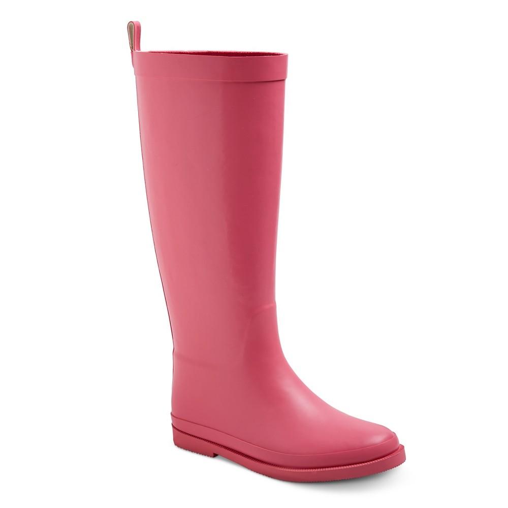 Girls Tall Matte Rain Boots 12 - Cat & Jack - Pink