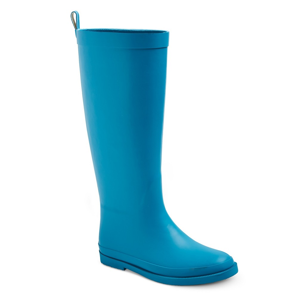 Girls Tall Matte Rain Boots 12 - Cat & Jack - Turquoise