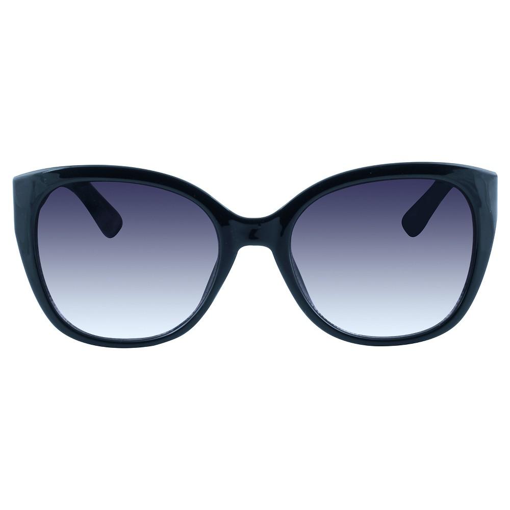 Womens Medium Modified Cateye Sunglasses - Black