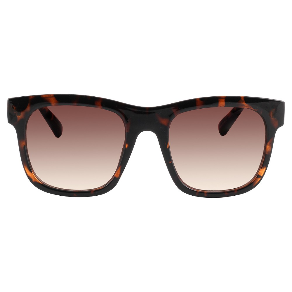 Womens Oversized Rectangle Sunglasses - Tortoise, Size: Medium, Brown