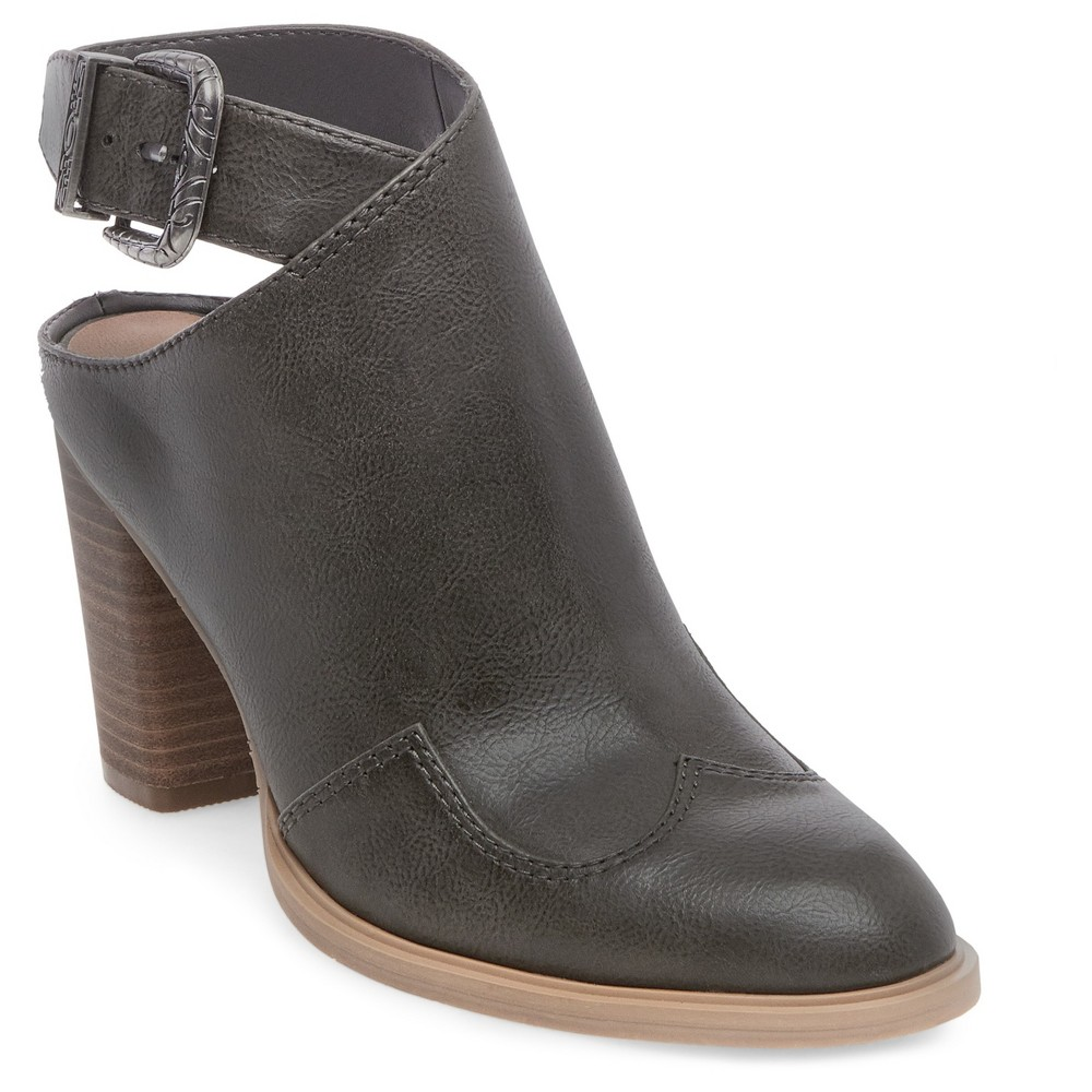 Womens dv Patricia Western Mule Booties - Gray 7.5