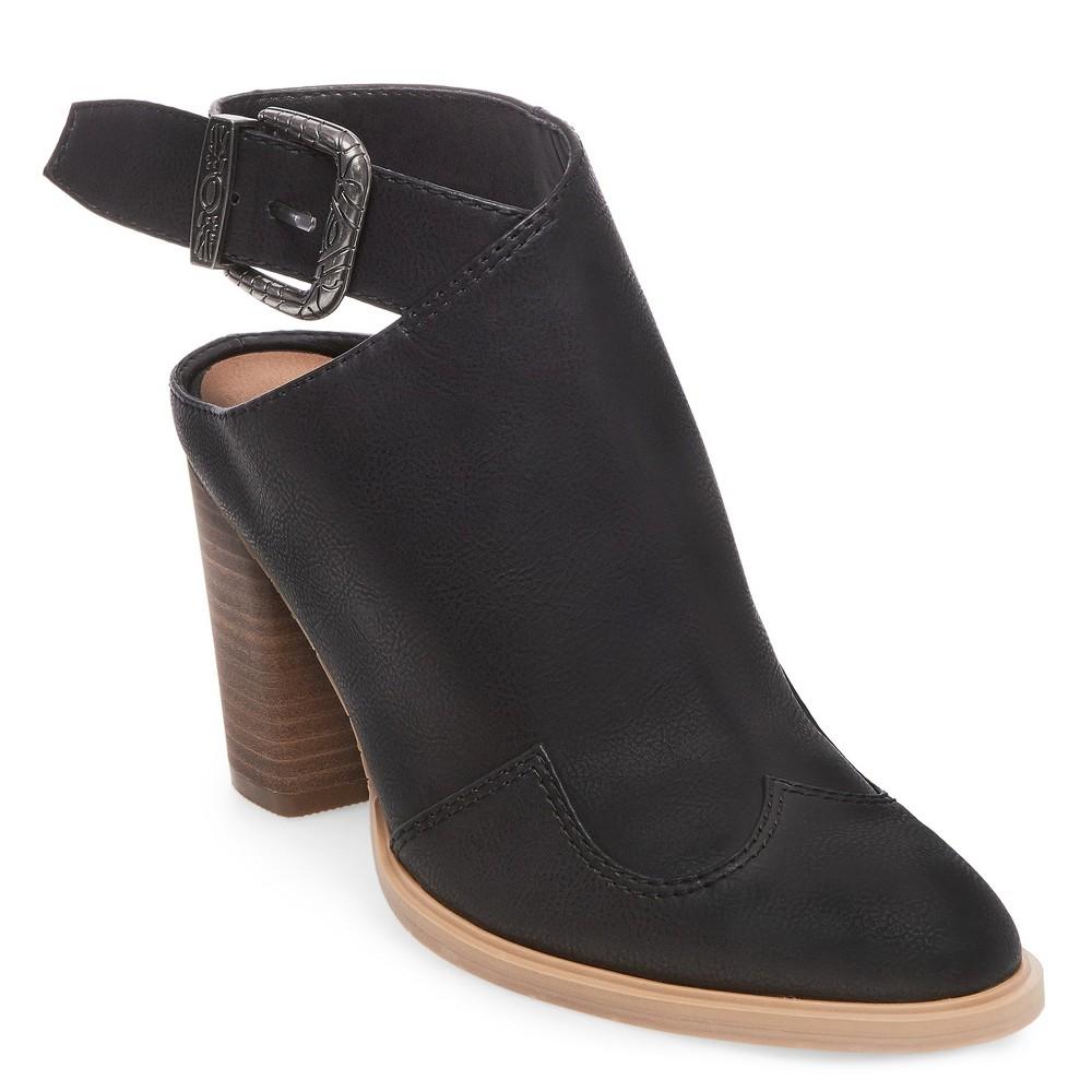 Womens dv Patricia Western Mule Booties - Black 6.5