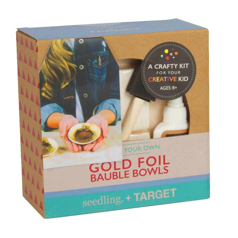 Seedling Design Your Own Gold Foil Bauble Bowls