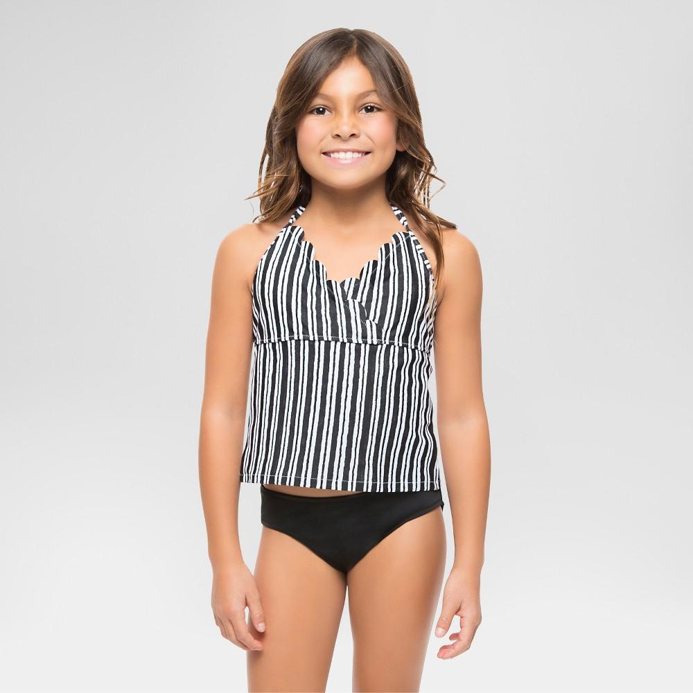 Vanilla Beach Girls Tankini Sets - Black/White S