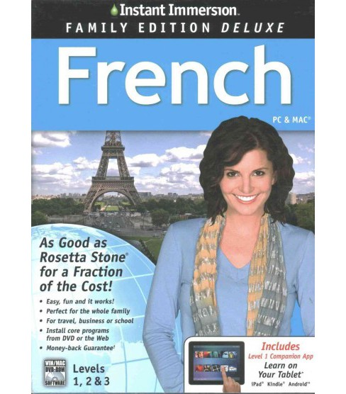 Instant Immersion French, Level 1-3 : Family Edition (Hardcover) - image 1 of 1