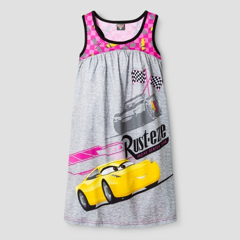 Girls' Cars Nightgown - Pink - image 1 of 1