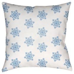 Snowflakes Throw Pillow - Surya