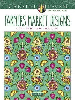 Farmers Market Designs Coloring Book (Paperback) (Marty Noble)