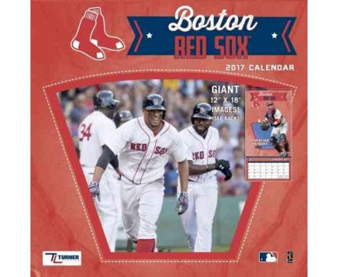 Boston Red Sox 2017 Calendar (Paperback) - image 1 of 1