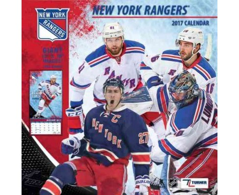 New York Rangers 2017 Calendar (Paperback) - image 1 of 1