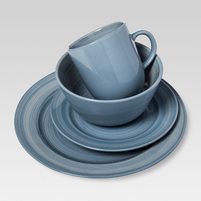 Torin Sapphire Stoneware 16pc Dinnerware Set Blue - Threshold™