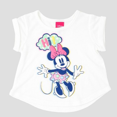 Toddler Girls' Minnie Mouse Top And Bottom Sets Disney Eggshell 3T, Toddler Girl's, Beige