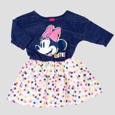 Baby Girls' Minnie Mouse A Line Dress Disney® Denim Blue 18M