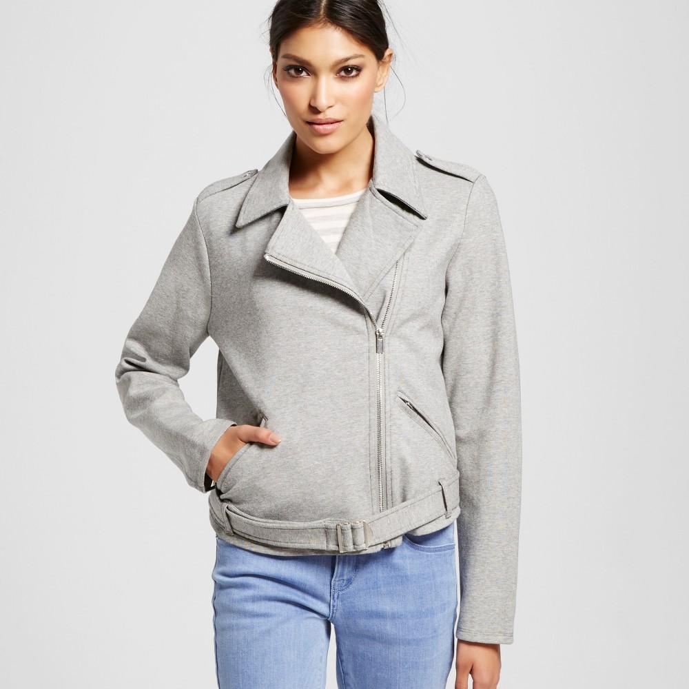 Women's Moto Jacket Gray L – Mossimo