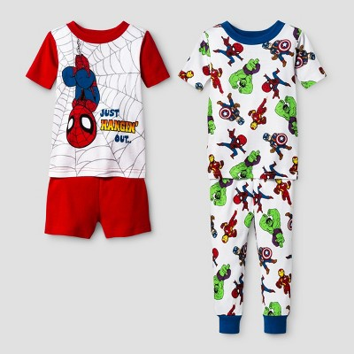 Toddler Boys' Spider-Man Pajama Set - Red 18M